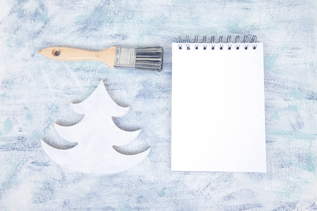white sheet: Artist Christmas Mockup