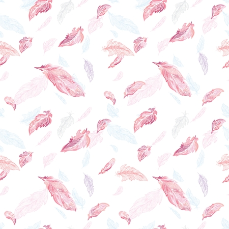 Elegant feather Vector Pattern Vectores