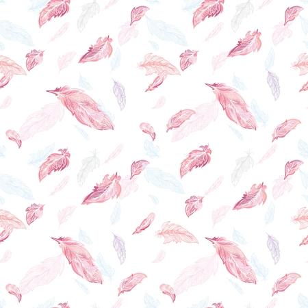 Elegant feather Vector Pattern Illustration