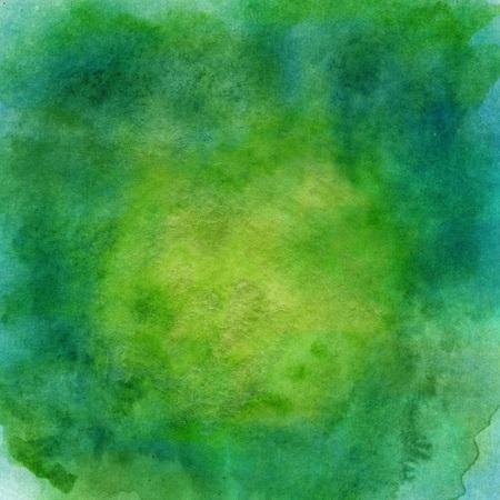 Deep Green Watercolor Paper Texture Stock Photo