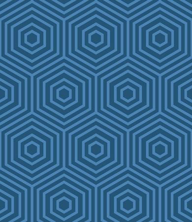 Blue Geometric Vector Pattern