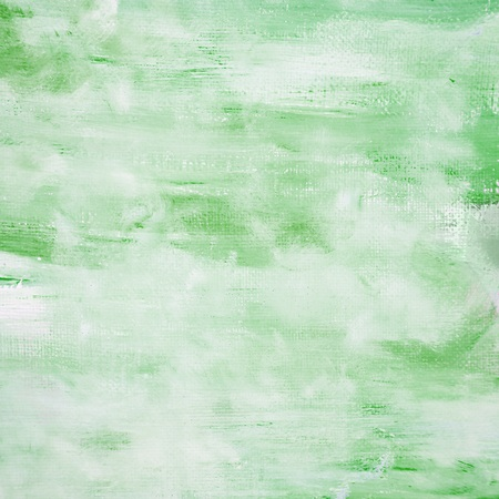 Green Painted Canvas Background