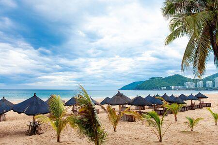 Vacation sand beach ocean view