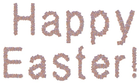 dekor: A colorful pattern for happy easter letters  Stock Photo