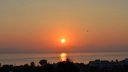 アルバニア語山の日の出 写真素材