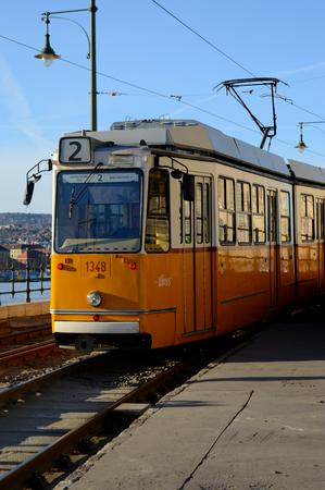 ブダペストのトラム 写真素材