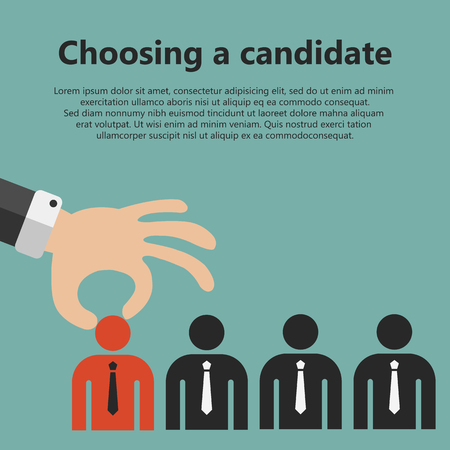 Bank banking business buying card card reader cartoon 71497663 choosing the best candidate for the job concept hand picking up a businessman from the row flat vector design reheart Choice Image