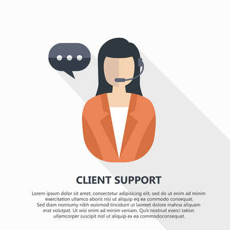 Client support vector illustration with text. Illustration