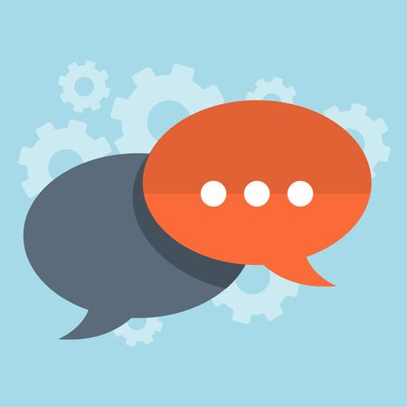 Speech bubble background. Chat vector illustration.