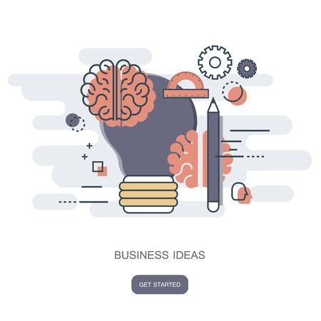 Business ideas concept. Flat vector illustration 일러스트