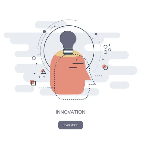 Innovation in business concept. Flat vector illustration 일러스트