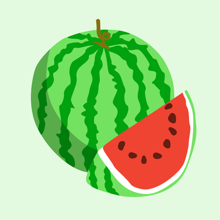 Flat icon watermelon. Vector illustration.