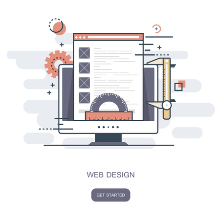 Web design concept. Flat vector illustration