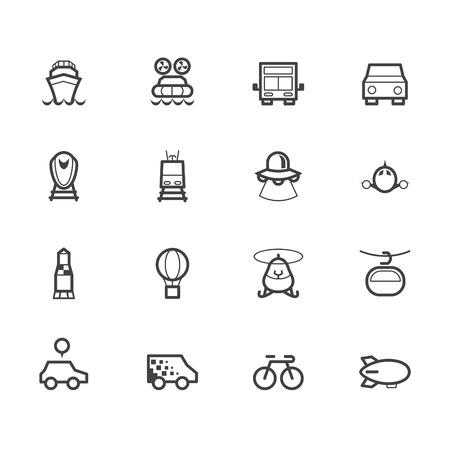shinkansen: vehicle black icon set on white