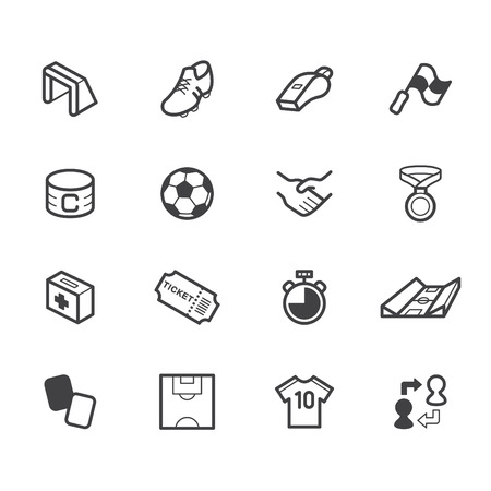 yellow card: Soccer element color icon set.