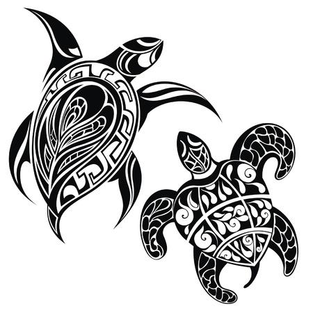 tatouage art: Tortue une silhouette