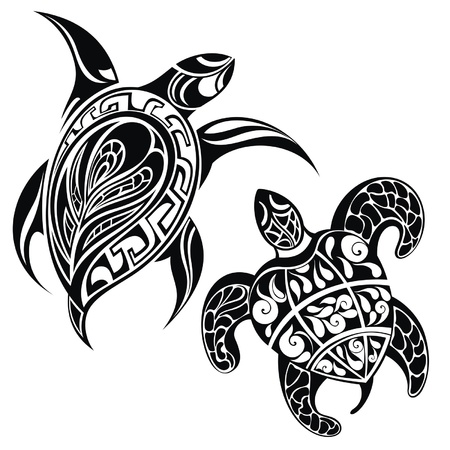tortuga: Tortuga una silueta Vectores