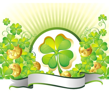 lucky plant: St  Patrick s Day background