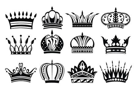 Crowns illustration  Vector
