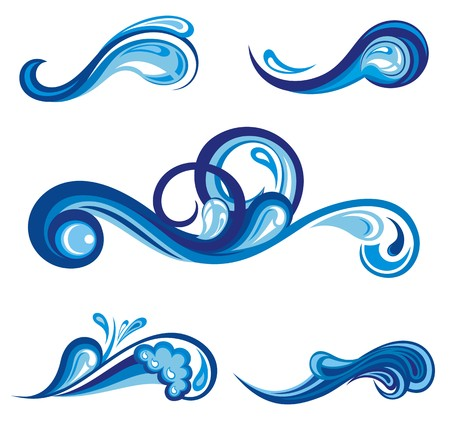water splash: Collection of water