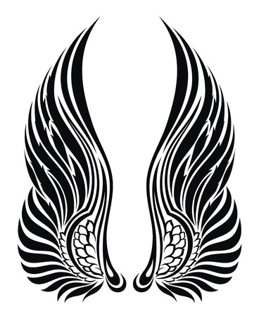 gothic design: Angel wings