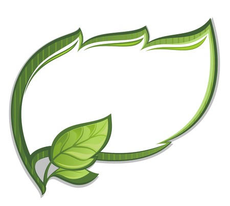 Green leaf frame Vektorové ilustrace