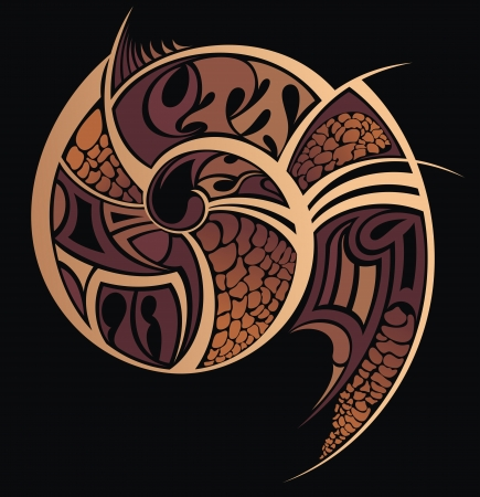 Tattoo pattern illustration  Illustration
