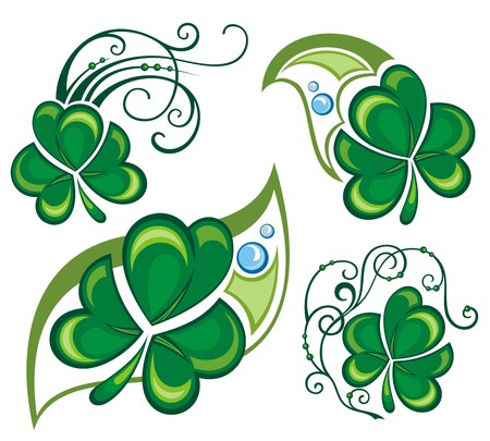 good s: Shamrock, clover design illustration  Illustration