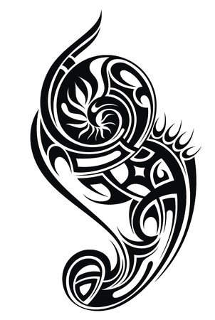 twirl: Ilustraci�n tatuaje tribal Vectores