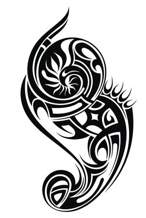 burmak: Tribal dövme illüstrasyon