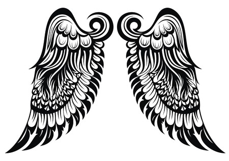 Angel wings Tattoo wings Vector
