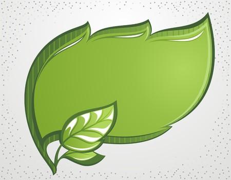 elm: Green leaf frame illustration  Illustration
