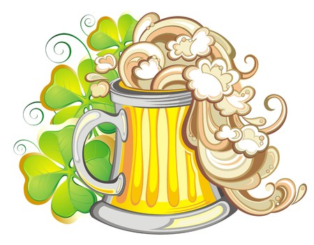 irish pride: St  Patrick s Day illustration  Illustration