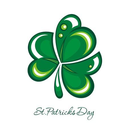 st patrick s day: Shamrock, design trifoglio per St Patrick s Day illustrazione
