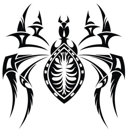 Spider Tattoo Illustration