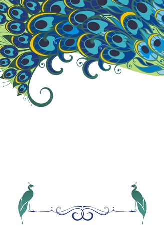 bright decoration color: Peacock background