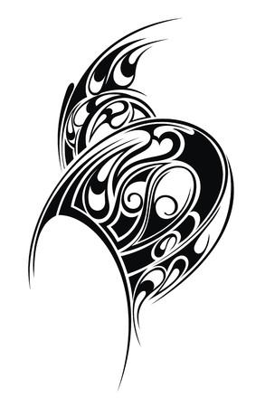Styled tattoo pattern Illustration