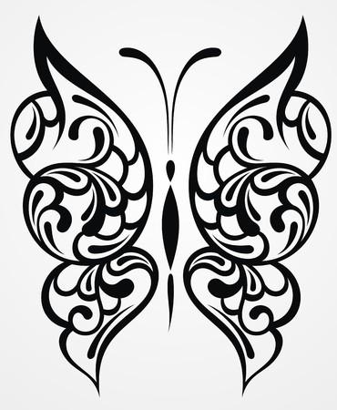 Farfalla nera su uno sfondo bianco Archivio Fotografico - 26564837