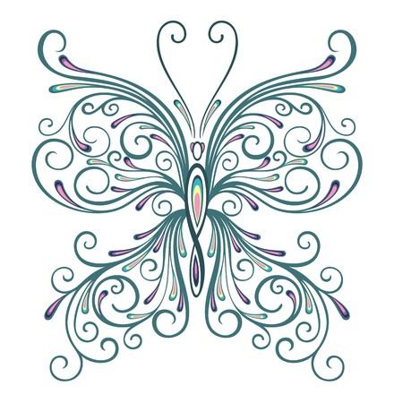 trabajo manual: Mariposa Vectores