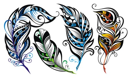 writing lines: Feathers
