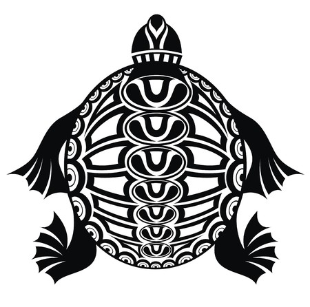 tribal tattoo: Turtle