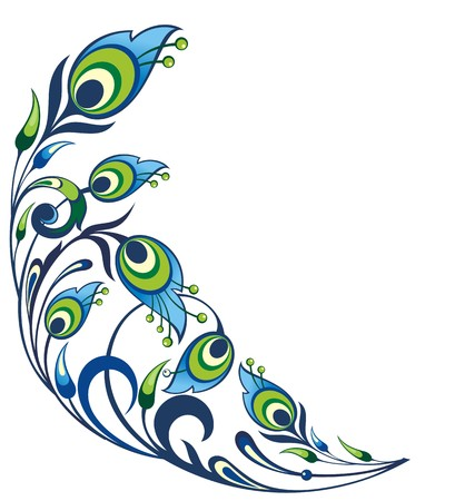 Peacock feather element Vector