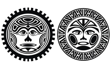 Tattoo styled masks Vector