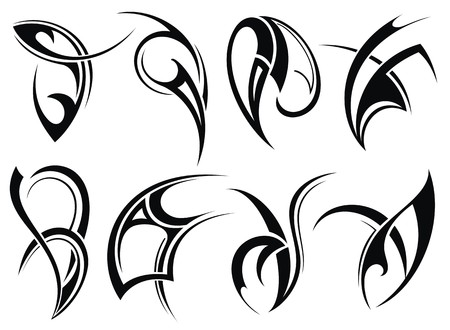 Collection of Tribal tattoo Vector