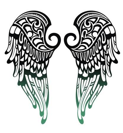 tatouage ange: Angel Wings Illustration