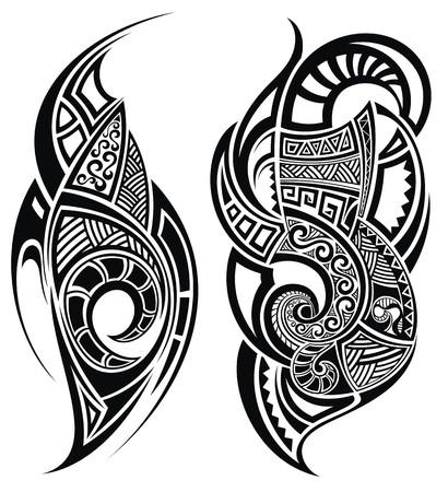 폴리네시아: 문신 디자인 일러스트