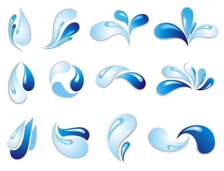 wasserwelle: Wasserwelle Symbole Illustration