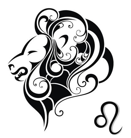 Signe de zodiaque de Lion Banque d'images - 30311382