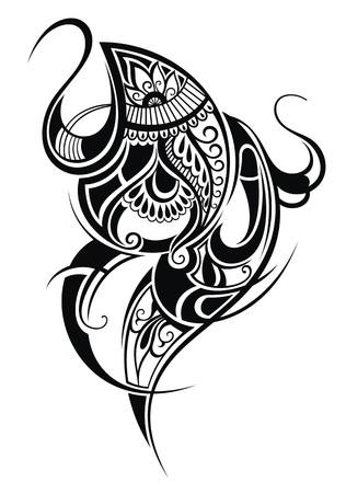 mhendi: Paisley  Ethnic ornament Illustration