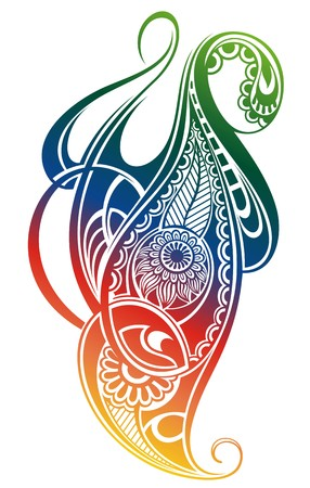 pear shaped: Paisley background